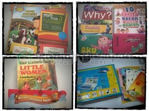 Sebagian kecil buku yang disumbangkan untuk adik-adik di RHVCF.